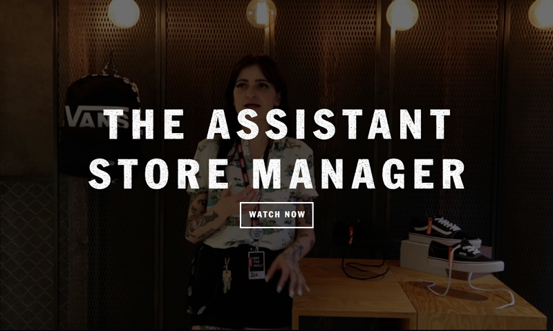 Vans careers work with us - Assistant Store manager